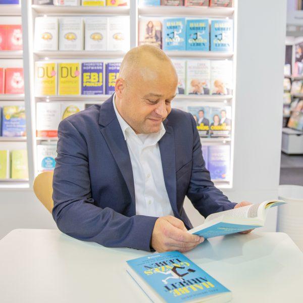 Axel Mengewein auf der Buchmesse