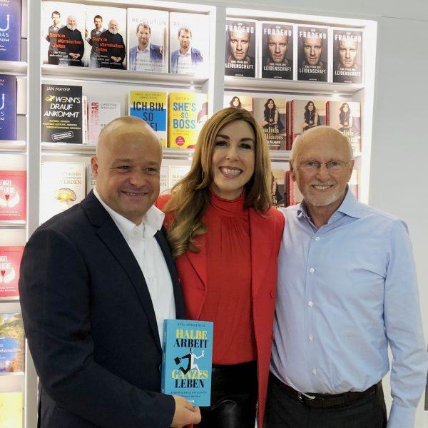 Axel Mengewein, Judith Williams, Dirk Rossmann auf der Buchmesse Frankfurt