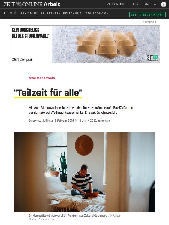 ZEIT Interview